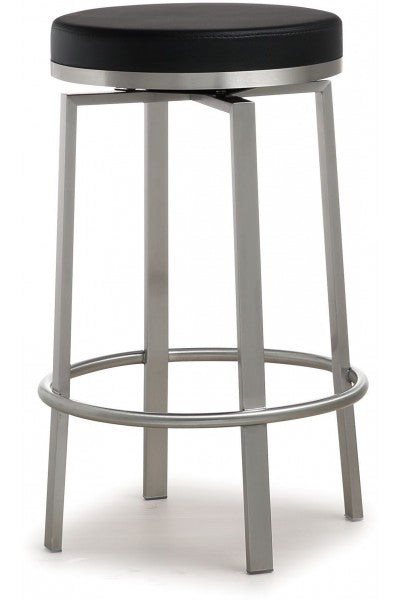 Pratt Black Steel Counter Stool  (Set Of 2) - Old Bones Furniture Company