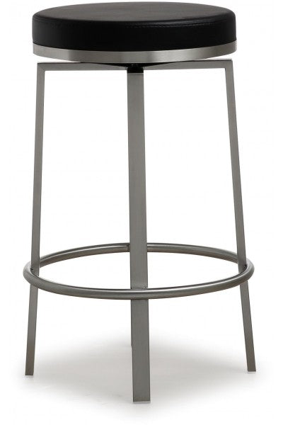 Pratt Black Steel Counter Stool  (Set Of 2)