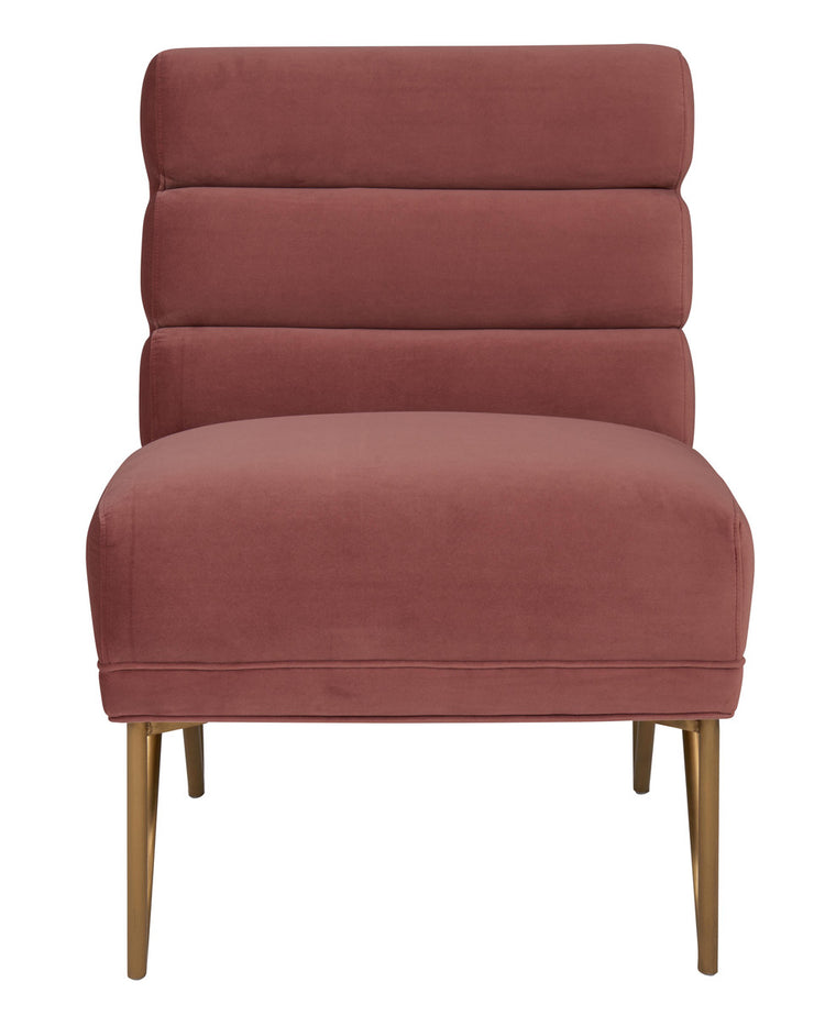 Kelly Salmon Velvet Chair
