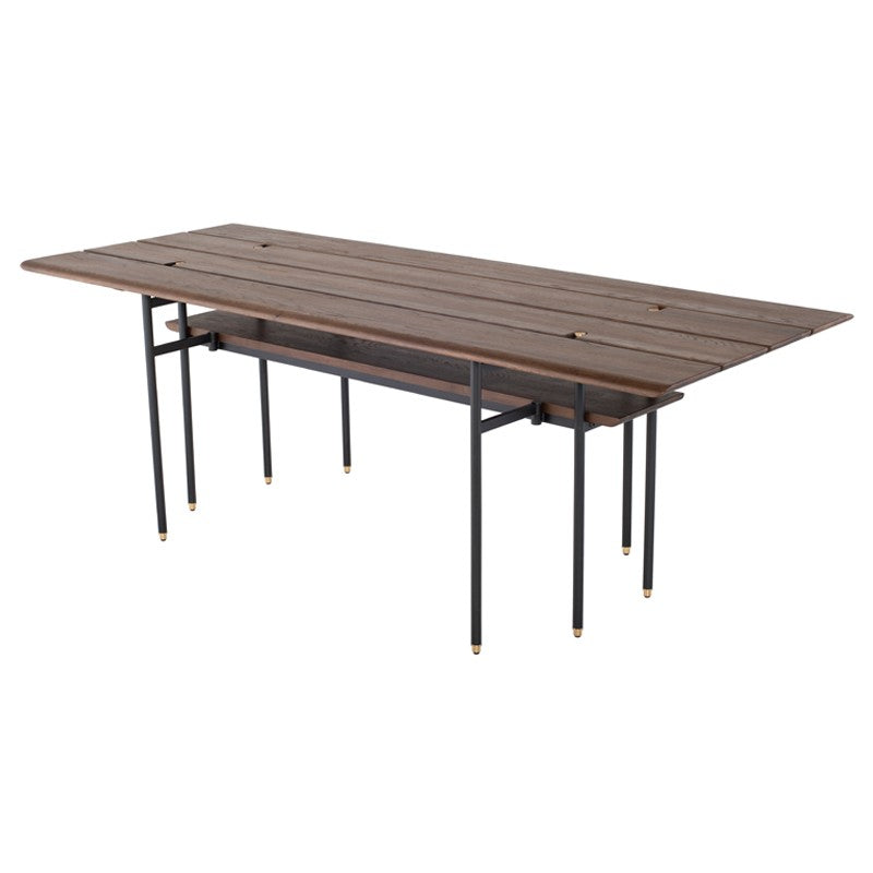 Stacking Drop Leaf Dining Table - Smoked   DINING TABLE District Eight, Old Bones Co  https://www.oldbonesco.com/