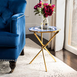 Celeste Faux Agate Side Table