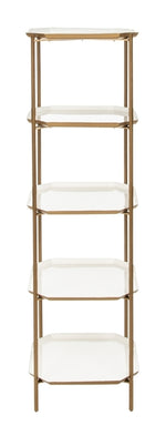 Sylvie 5 Tier Etagere   Bookshelf Safavieh, Old Bones Co  https://www.oldbonesco.com/