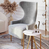 Aya Marble Side Table   Side Table TOV Furniture Old Bones Furniture Company https://www.oldbonesco.com/