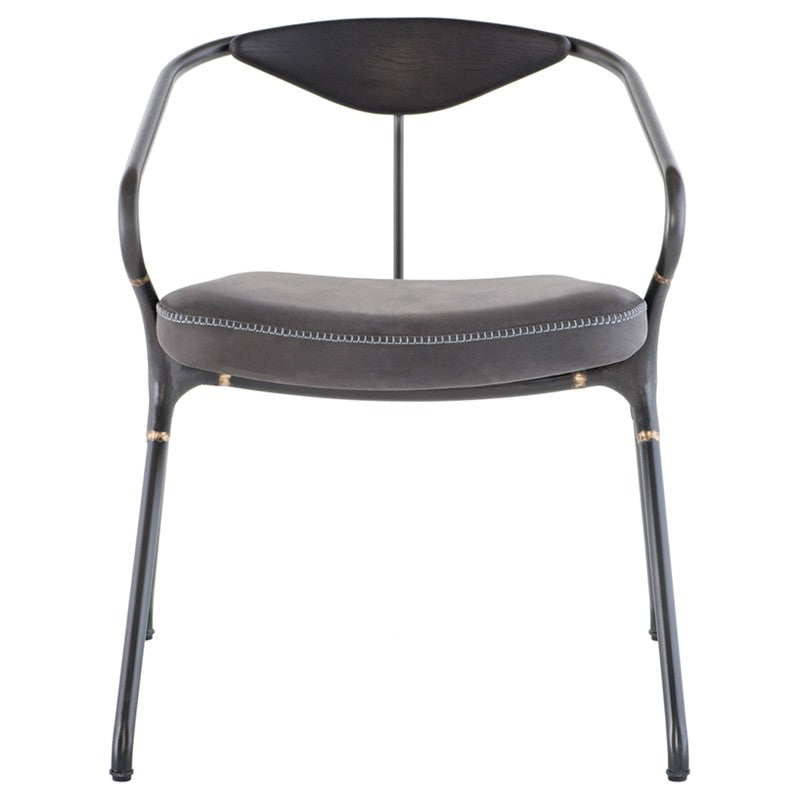 Akron Dining Chair - Storm Black   DINING CHAIR District Eight Old Bones Furniture Company https://www.oldbonesco.com/