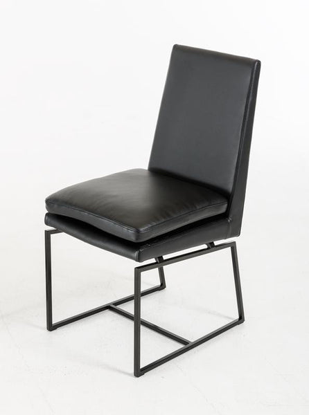 Cadre Black Leatherette Chair - Old Bones Furniture Company