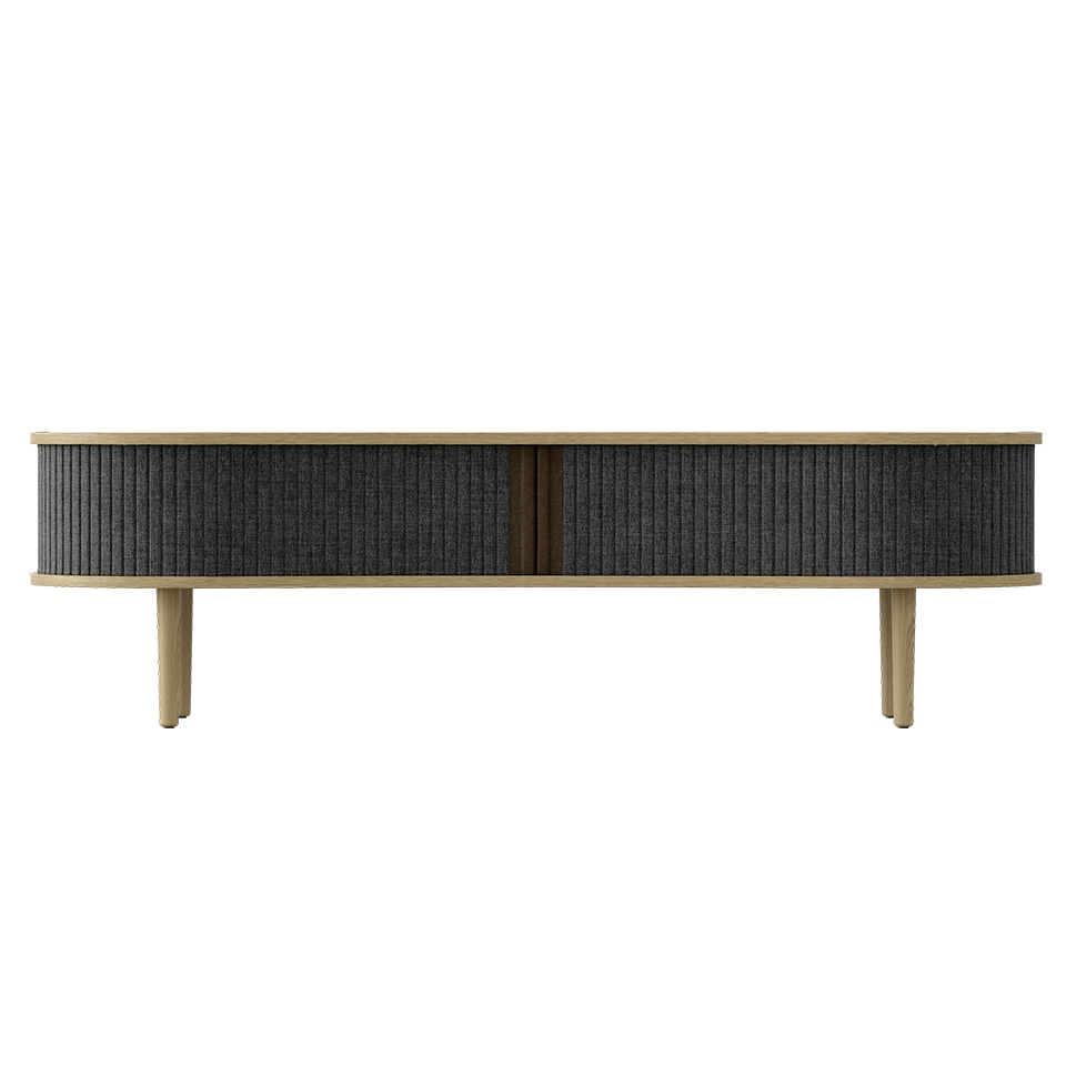 Audacious TV Bench - Light Oak Slate Grey/Light Oak Slate Grey/Light Oak TV Stand Umage Old Bones Furniture Company https://www.oldbonesco.com/