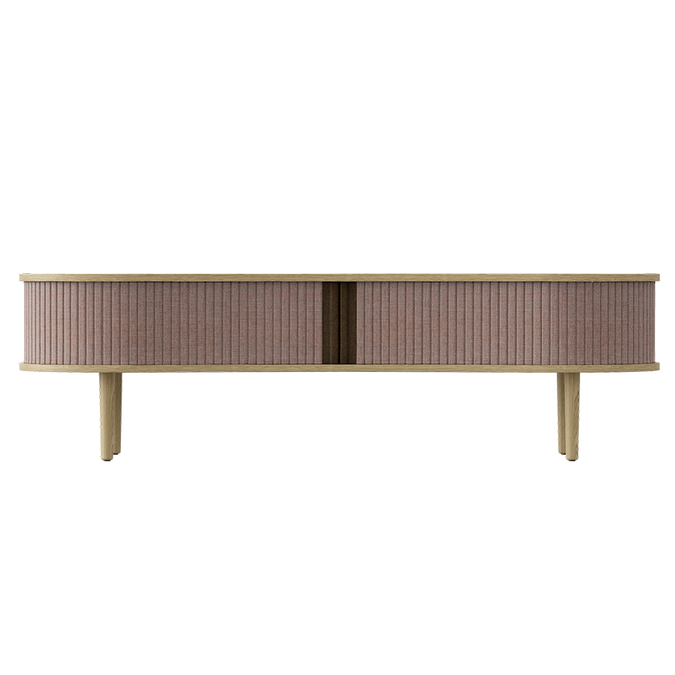 Audacious TV Bench - Light Oak Dusty Rose/Light Oak Dusty Rose/Light Oak TV Stand Umage Old Bones Furniture Company https://www.oldbonesco.com/