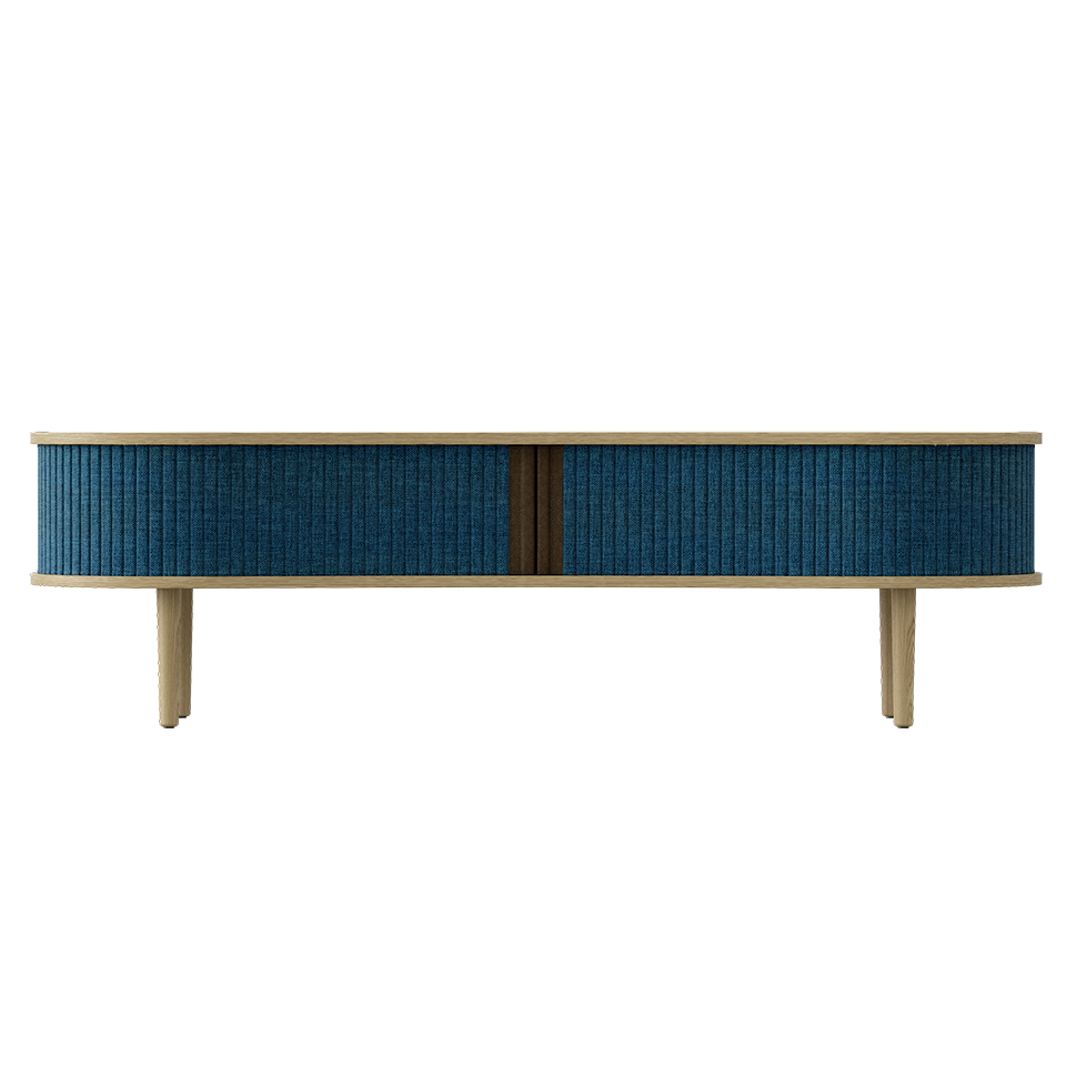 Audacious TV Bench - Light Oak Petrol Blue/Light Oak Petrol Blue/Light Oak TV Stand Umage Old Bones Furniture Company https://www.oldbonesco.com/