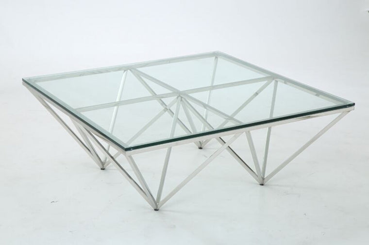 Newark Contemporary Glass Coffee Table