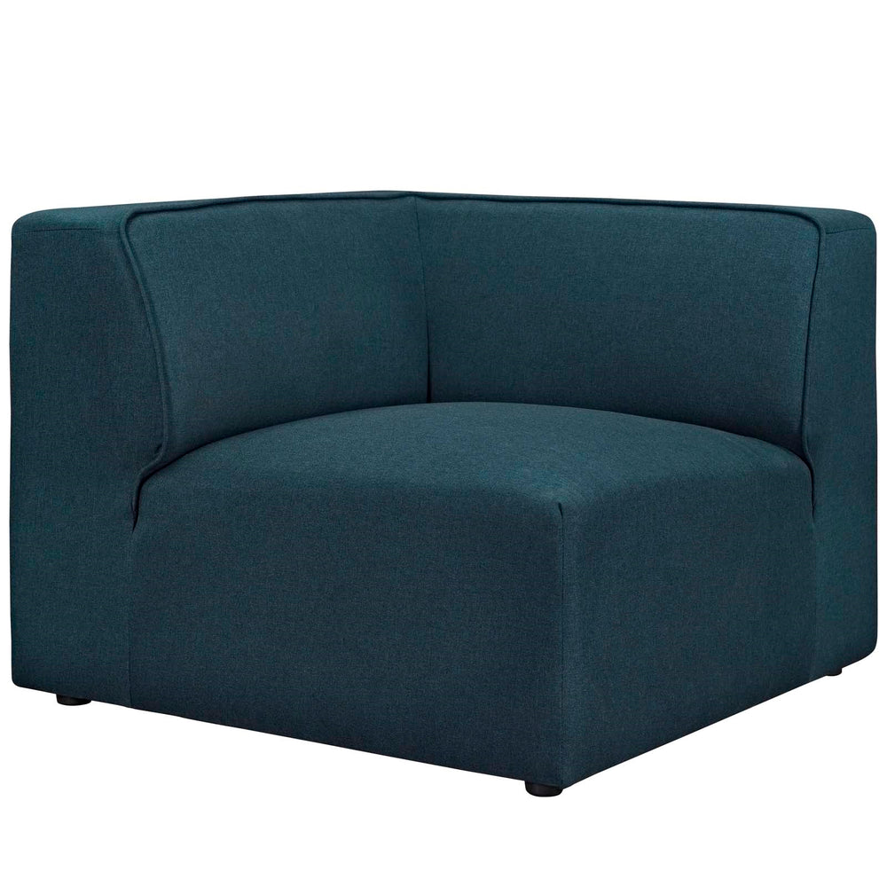 Mingle 5 Piece Fabric Armless Modular Sofa- Blue