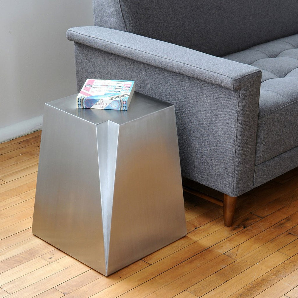 Glacier End Table   Side Table Gus* Four Hands, Mid Century Modern Furniture, Old Bones Furniture Company, https://www.oldbonesco.com/