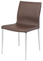 Colter Dining Chair With Chromed Steel Legs   Dining Chair Nuevo Old Bones Furniture Company https://www.oldbonesco.com/