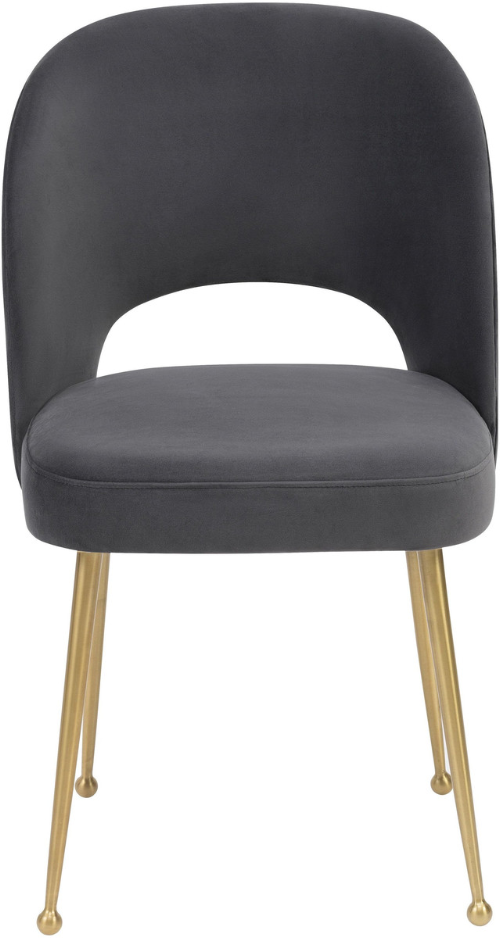 Swell Velvet Chair Dark Grey Dark Grey Dining Chair TOV Furniture Four Hands, Mid Century Modern Furniture, Old Bones Furniture Company, https://www.oldbonesco.com/