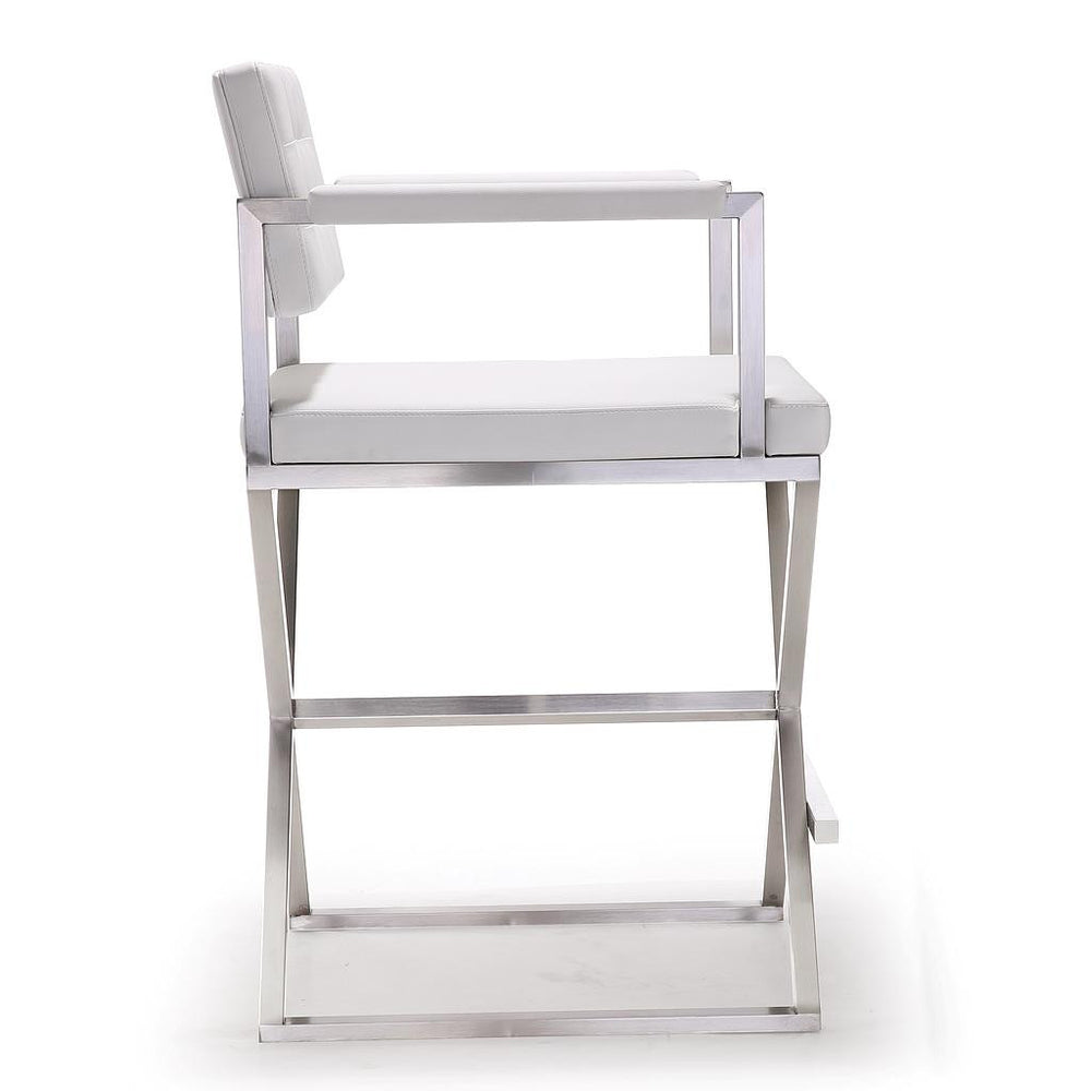 Director White Stainless Steel Counter Stool http://www.oldbonesco.com/ Counter Stools  - 2