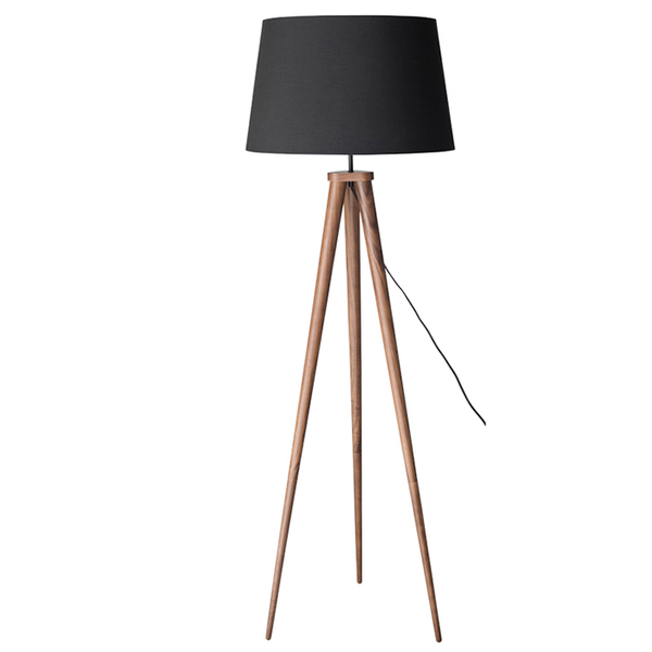 Triad Floor Lamp - Walnut - Old Bones Furniture Company