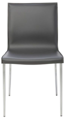 Colter Dining Chair With Chromed Steel Legs - Old Bones Furniture Company