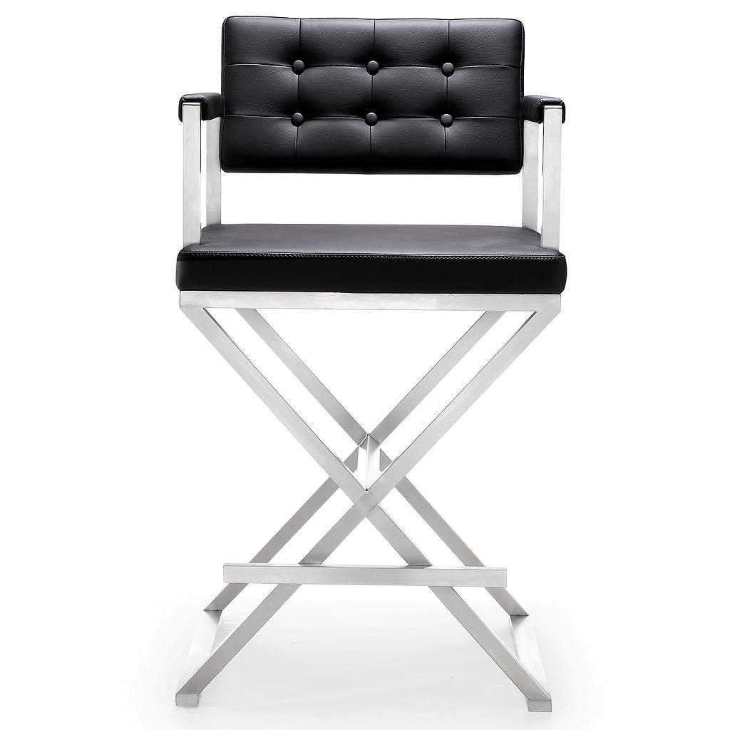 Director White Stainless Steel Counter Stool http://www.oldbonesco.com/ Counter Stools  - 5
