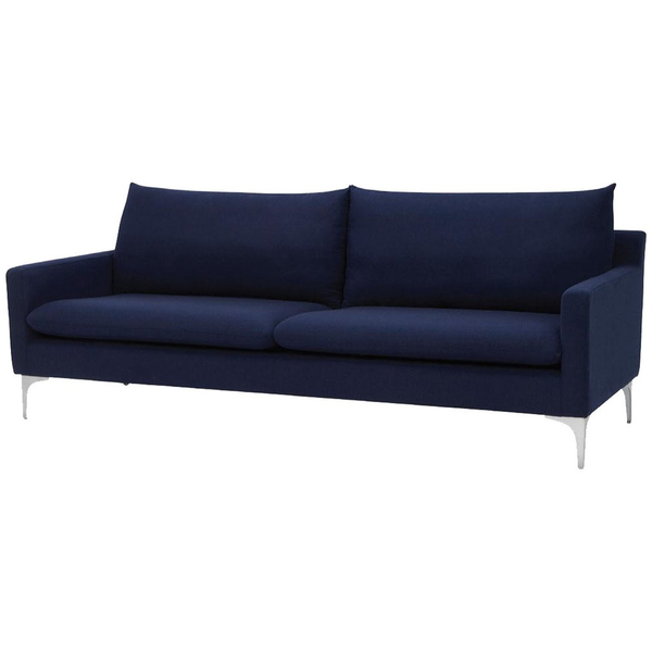 Anders Sand Fabric Triple Seat Sofa - Old Bones Furniture Company