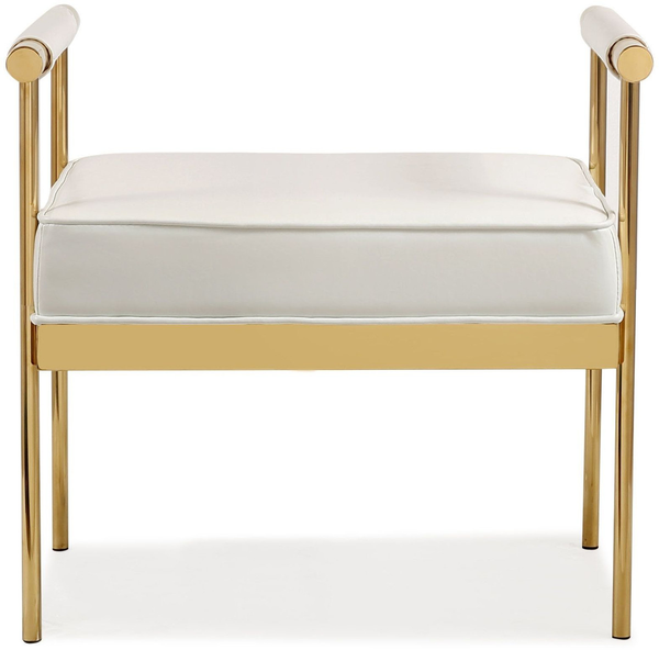 Fabulous Diva White Eco Leather Bench Cjindustries Chair Design For Home Cjindustriesco