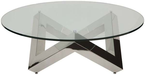 Como Clear Glass Coffee Table