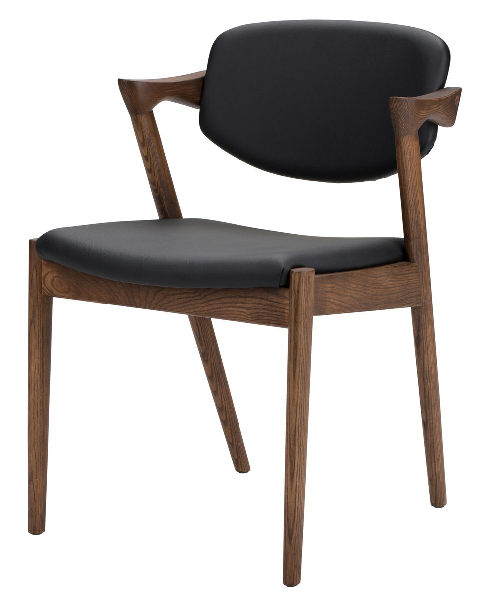 Kalli Black Naugahyde Dining Chair
