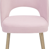 Swell Velvet Chair Blush Blush Dining Chair TOV Furniture Four Hands, Mid Century Modern Furniture, Old Bones Furniture Company, https://www.oldbonesco.com/