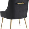 Beatrix Velvet Side Chair - Old Bones Furniture Company