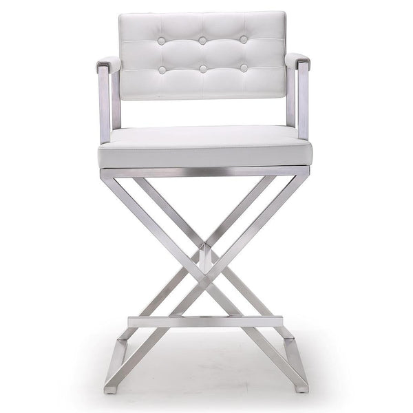 Director White Stainless Steel Counter Stool http://www.oldbonesco.com/ Counter Stools  - 1