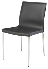 Colter Dining Chair With Chromed Steel Legs