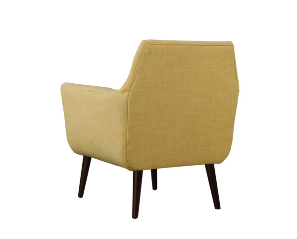 Clyde Mustard Linen Chair - Old Bones Furniture Company
