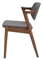Kalli Grey Fabric Dining Chair - Old Bones Furniture Company
