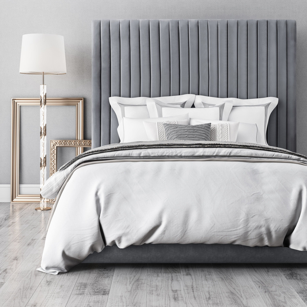 Arabelle Bed in Grey - Old Bones Furniture Company