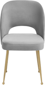 Swell Velvet Chair Light Grey Light Grey Dining Chair TOV Furniture Four Hands, Mid Century Modern Furniture, Old Bones Furniture Company, https://www.oldbonesco.com/