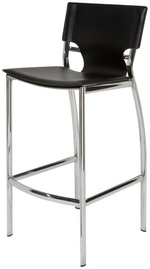 Lisbon Counter Stool Black Leather Black Leather Counter Stools Nuevo Four Hands, Mid Century Modern Furniture, Old Bones Furniture Company, https://www.oldbonesco.com/