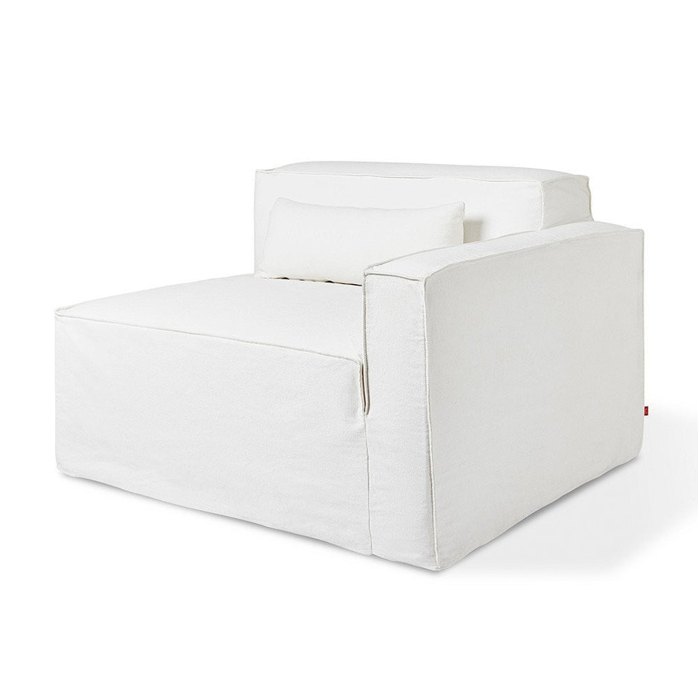 Mix Modular Slipcover Left Arm Washed Denim White Left Arm Washed Denim White Lounge Chair Gus* Four Hands, Mid Century Modern Furniture, Old Bones Furniture Company, https://www.oldbonesco.com/