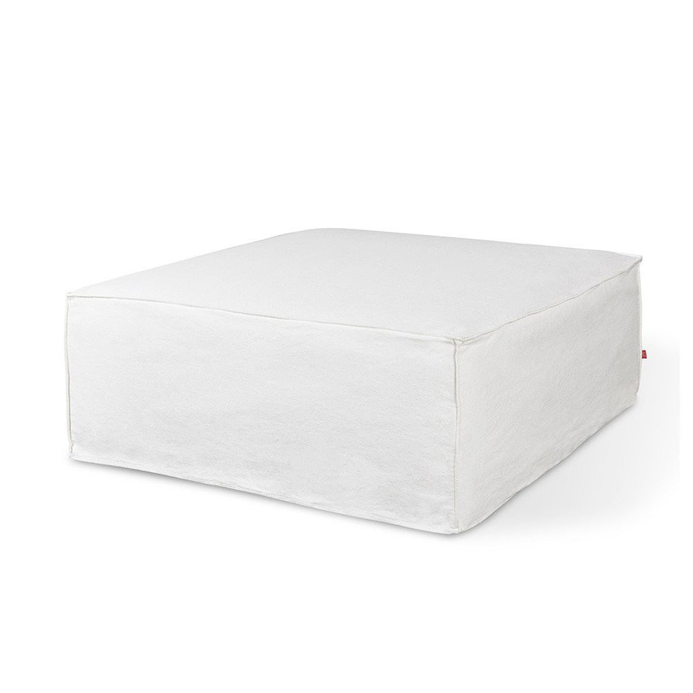 Mix Modular Slipcover Ottoman Washed Denim White Ottoman Washed Denim White Lounge Chair Gus* Four Hands, Mid Century Modern Furniture, Old Bones Furniture Company, https://www.oldbonesco.com/