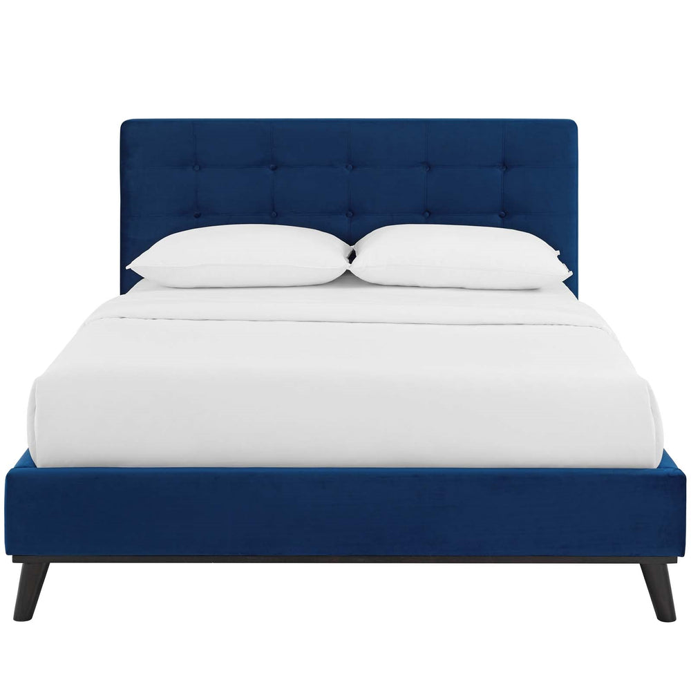 McKenzie Velvet Platform Bed   Bed Modway International, Old Bones Co  https://www.oldbonesco.com/