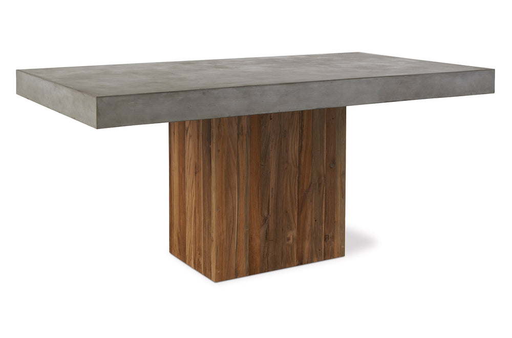 Perpetual Teak Sparta Dining Table Slate Grey Slate Grey Outdoor Seasonal Living, Old Bones Co  https://www.oldbonesco.com/