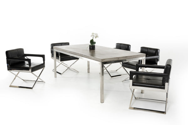 Modrest Retna Modern Concrete Dining Table - Old Bones Furniture Company