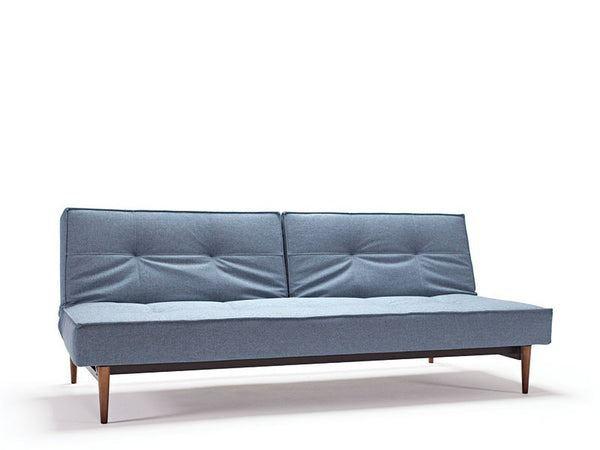 Split Back Sofa w/ Arms, Dark Wood - Old Bones Furniture Company