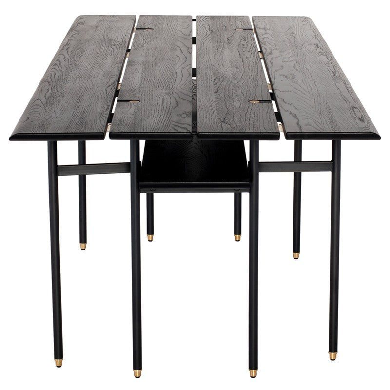 Stacking Drop Leaf Dining Table Black