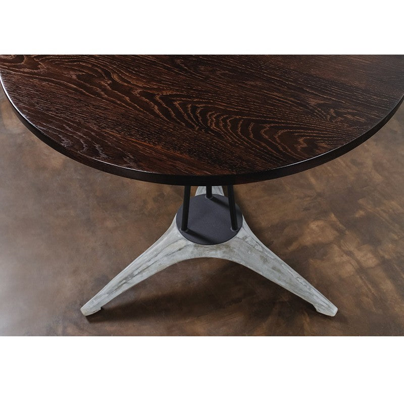 Kahn Bistro Table - Seared Wood   Dining Table District Eight, Old Bones Co  https://www.oldbonesco.com/