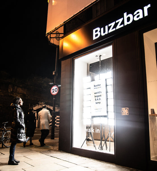 Buzzbar x Lumie: World's Largest SAD Lamp