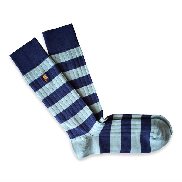 RIB SOCKS STRIPED MISTY