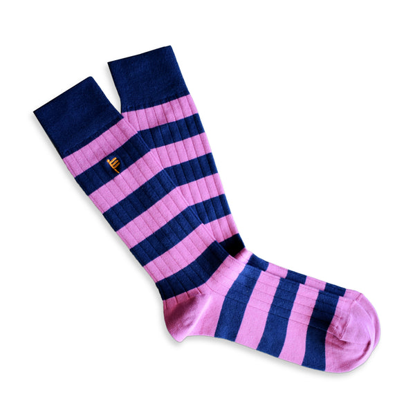 RIB SOCKS PINK STRIPED