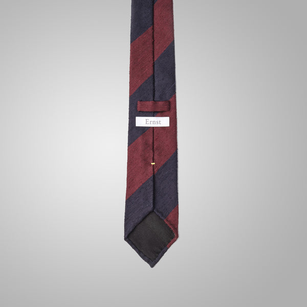 Japan Red & Navy Shantung