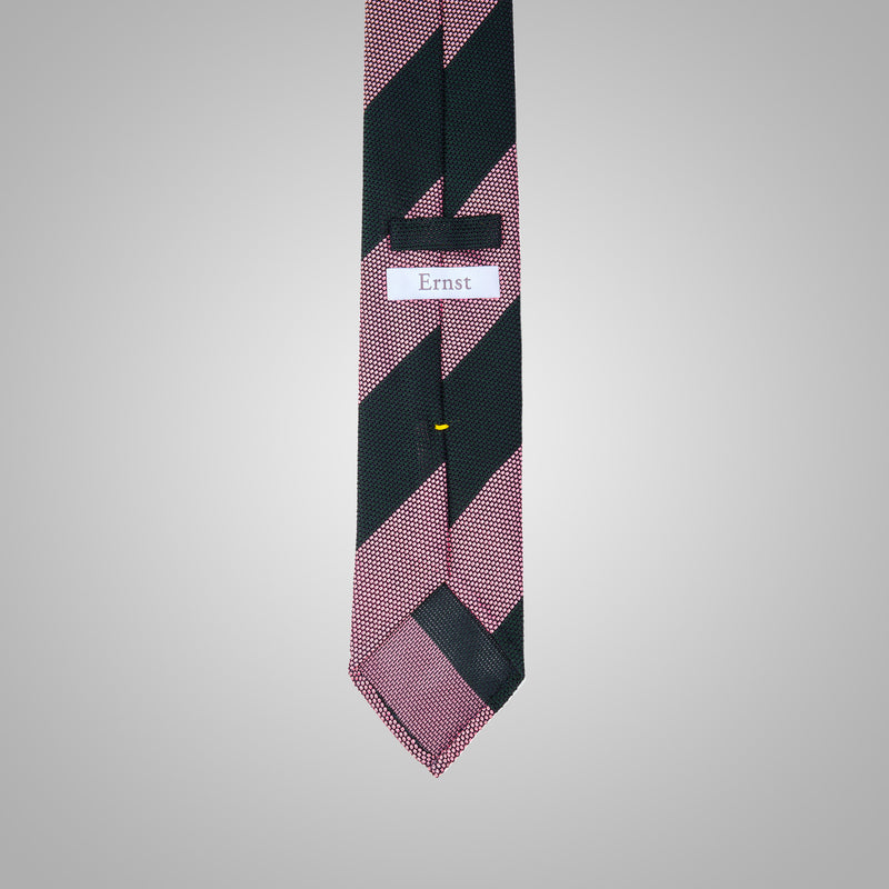 Vintage Pink & Green Striped Grenadine