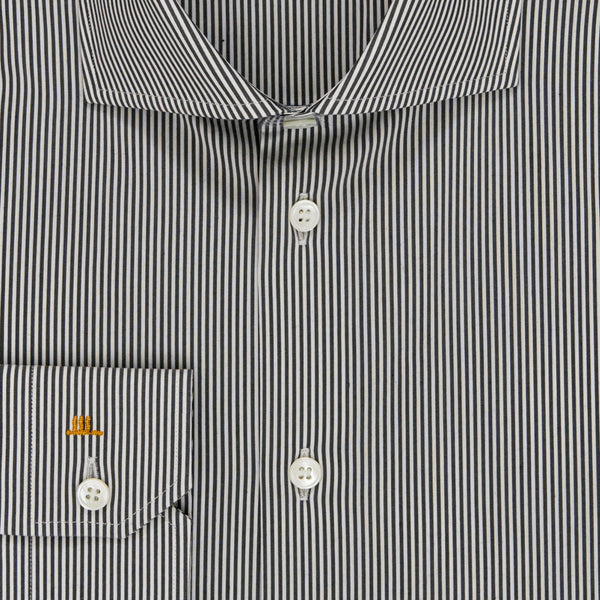 Black & White Striped Cotton Shirt