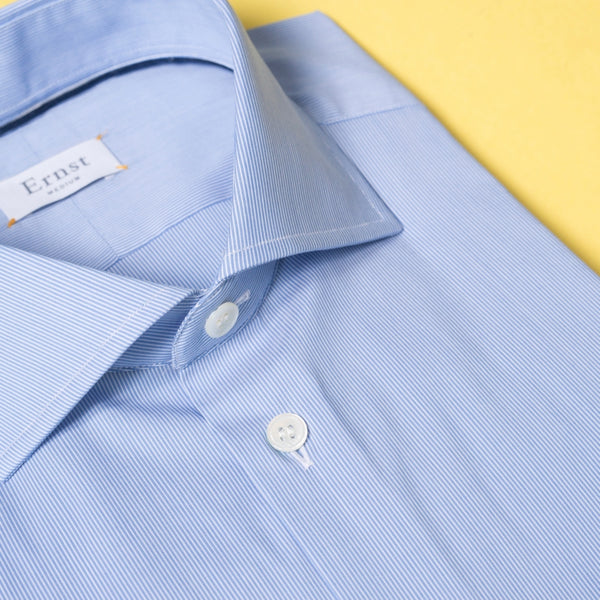 Blue & Withe striped stretch Cotton Shirt