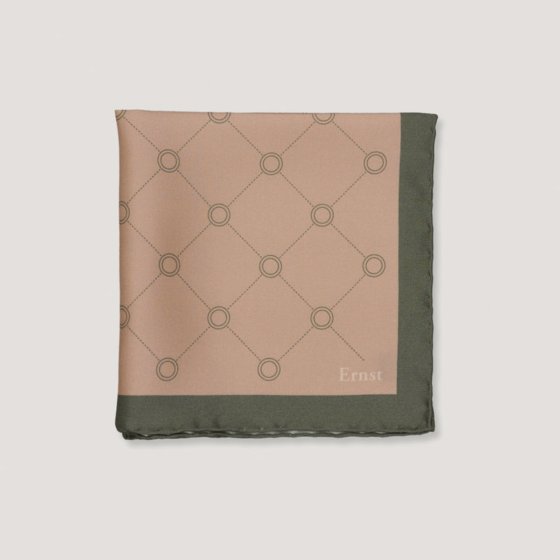 Green Vintage Pattern Handkerchief